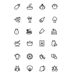Food outline icons 10 vector