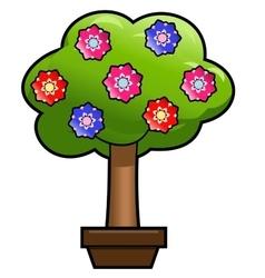 Flower tree vector image