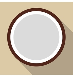 Sliced coconut flat icon vector