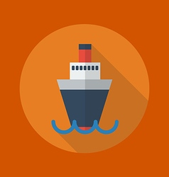 Transportation flat icon ship vector