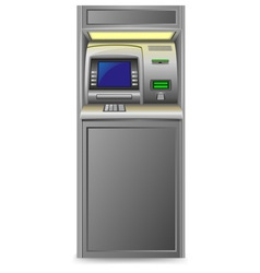 Atm isolated on white background vector