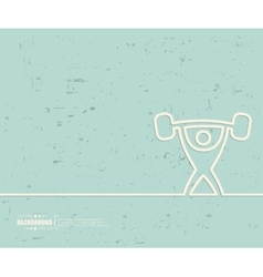 Creative heavy athletics art vector