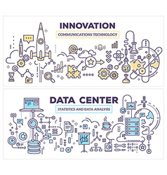 Creative concept of data center and innovati vector
