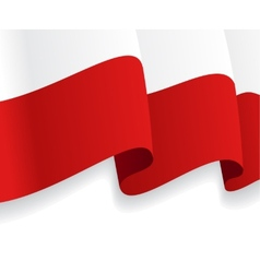 Background with waving polish flag vector