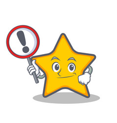 Bring sign star character cartoon style vector