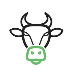 Buffalo face vector