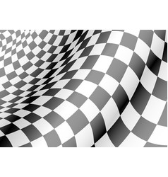 checkered flag waved sport race chapmpionship vector image vector image