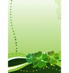 clover leaf design vector image vector image