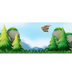 Hang gliding vector image vector image