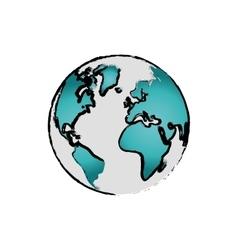 Isolated world earth vector