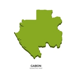 Isometric map of Gabon detailed vector image vector image