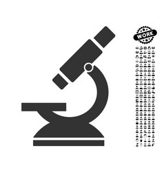 Microscope icon with job bonus vector