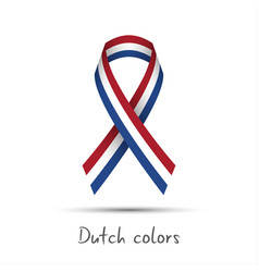 Modern colored ribbon with the dutch tricolor vector
