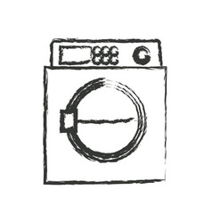 Monochrome blurred silhouette of wash machine vector