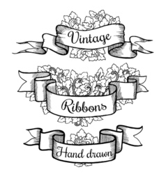 Old hand drawn banner to scrapbook or design in vector image vector image