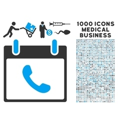 Phone calendar day icon with 1000 medical business vector