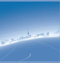 Rotterdam skyline aerial view vector