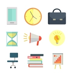 Set of Business Icons in Flat Style Design vector image vector image