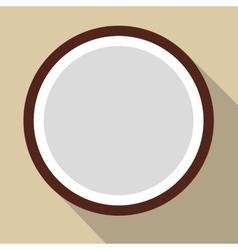 Sliced coconut flat icon vector