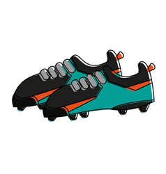 soccer sport shoes vector image vector image