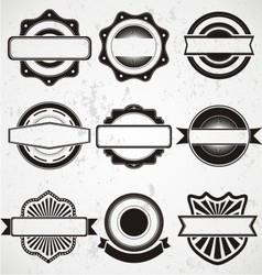 Vintage Badge Labels Template vector image vector image