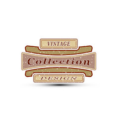 Vintage emblem for you design vector