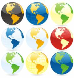 world globes vector image vector image