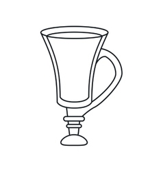 Coffee glass drink design vector