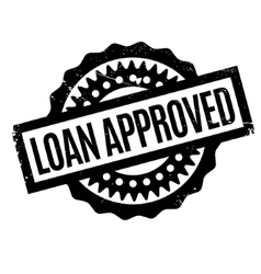 Loan approved rubber stamp vector