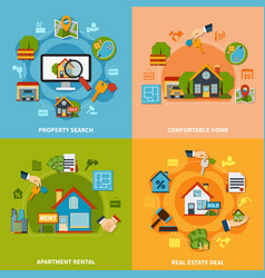 real estate design concept vector image