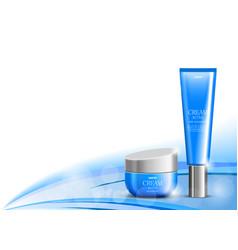 Body cream cosmetic design template vector