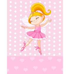 Little blond princess vector image