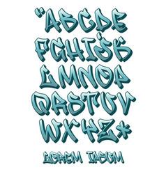 Graffiti font 3d- hand written - alphabet vector