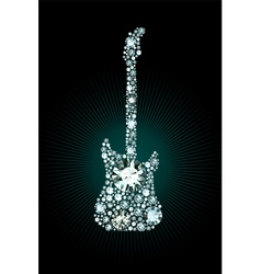 Diamond guitar vector