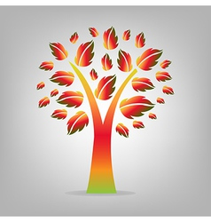 Abstract autumn tree vector