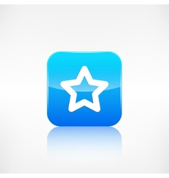 Star favorite sign web icon application button vector