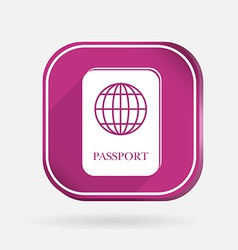 International passport color square icon vector