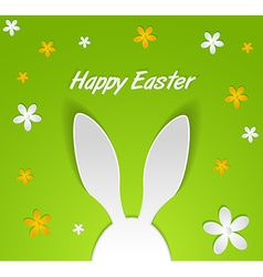 Bunny ears easter card vector