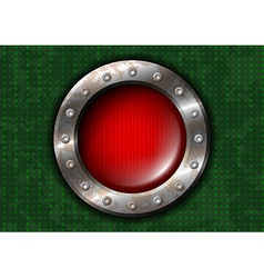 Red round lamp with rivets vector