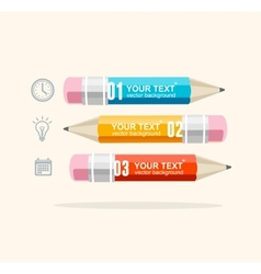 Business infographics with pencils vector