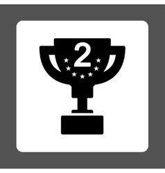 Second prize icon from award buttons overcolor set vector