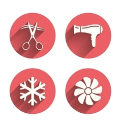 Hotel services icon air conditioning hairdryer vector