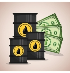 Petroleum industry and prices vector