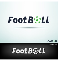 simple football logo vector image