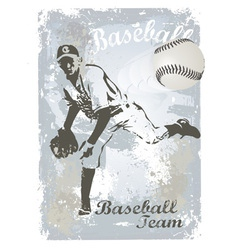 base ball grunge 3 vector image