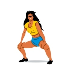 Girl dancing twerk cartoon vector