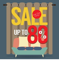 Furniture sale up to 80 percent vector