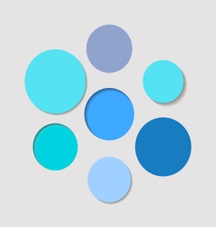 Blue circular background set vector