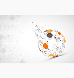 abstract technology sphere background vector image