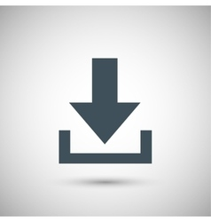 Blue arrow download vector
